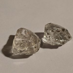 2 Herkimer diamonds double terminated Quartz Crystals Chakra Yoga Set Ships Free