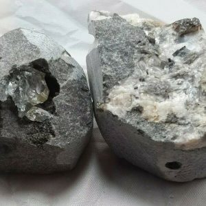 Herkimer Diamond Quartz Crystal on Matrix Set of 2